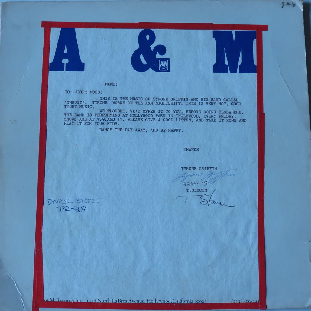 A&M - Thrust - Test Pressing