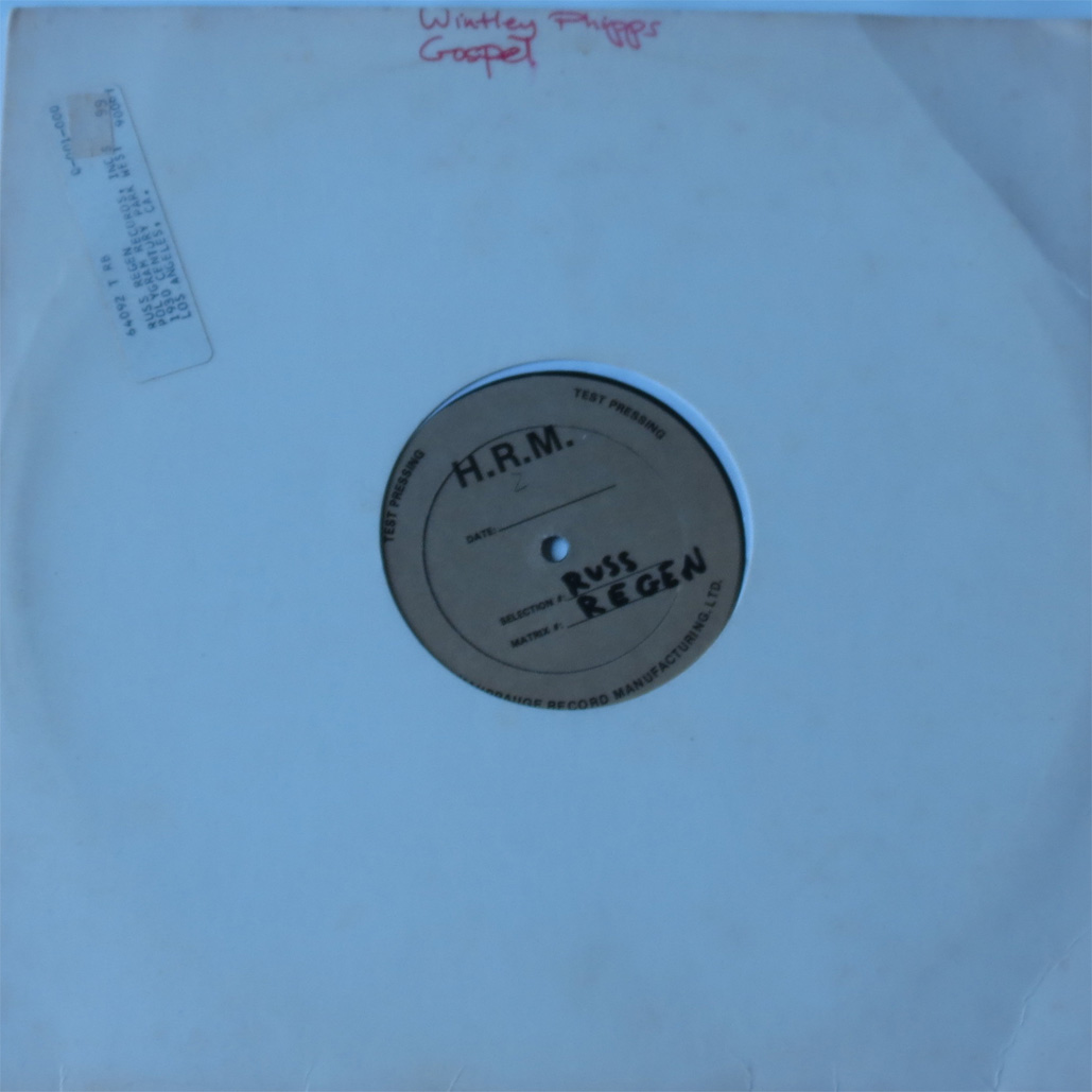 H.R.M - Russ Regen - Test Pressing - Wintley Philips Gospel